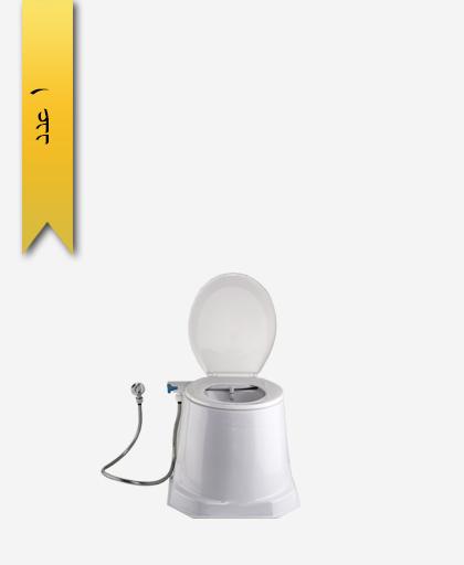 توالت فرنگی سيار اليزه کد 650 با بيده و شلنگ - سنی پلاستیک