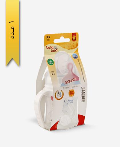 شیشه شیر خوری 150ml ضد نفخ دهانه عریض 356 - بی بی لند baby land