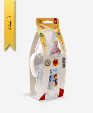 شیشه شیر خوری 300ml دهانه عریض ضد نفخ 357 دسته دار - baby land بیبیلند