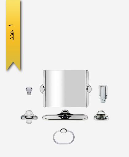 سرويس دستشویی 7 پارچه کد 727 مدل گلستان - سنی پلاستیک
