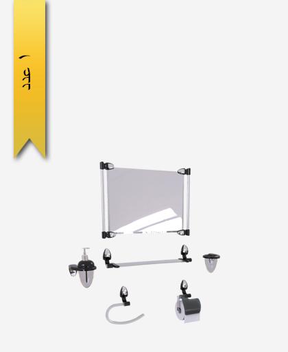 سرويس دستشویی 6 پارچه کد 1256 مدل اکو ساتين - سنی پلاستیک