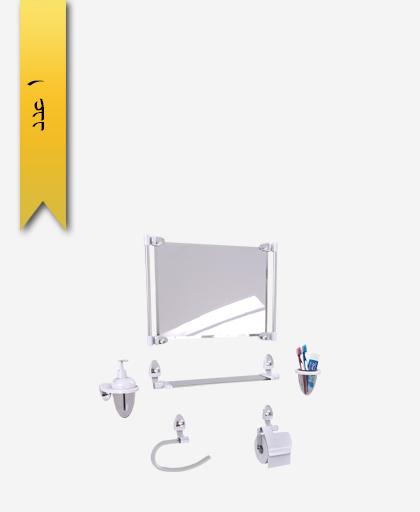 سرويس دستشویی 6 پارچه کد 1257 مدل اکو ساتين - سنی پلاستیک