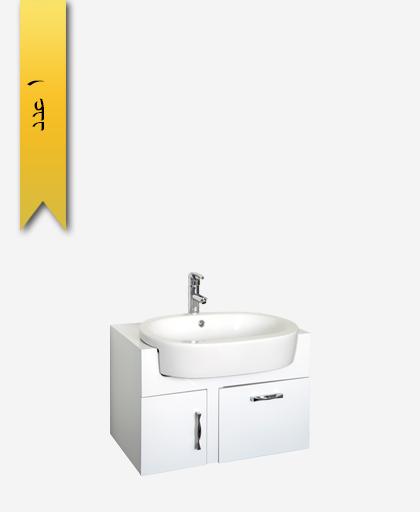 کابينت دستشویی کد 8158 مدل سارنو سایز 75 - سنی پلاستیک