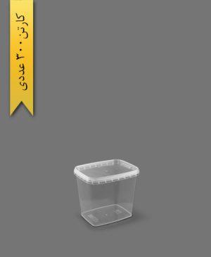 ظرف مایکروویو M560 با درب - ظروف یکبار مصرف طب پلاستیک