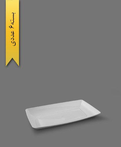 دیس الماس بزرگ سفید - ظروف یکبار مصرف طب پلاستیک