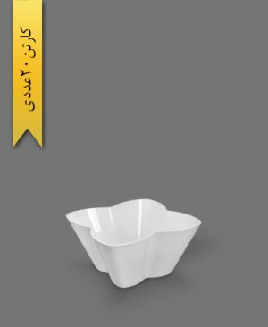 ظرف اسنک 2200ml کارن سفید کد4 - ظروف یکبار مصرف کوشا