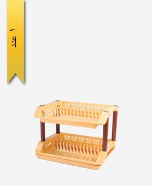 جا ظرفی ملیکا کد 1112 دو طبقه - طلوع پلاستیک