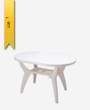 میز بیضی 70×115 کد 1041 دو طبقه - طلوع پلاستیک