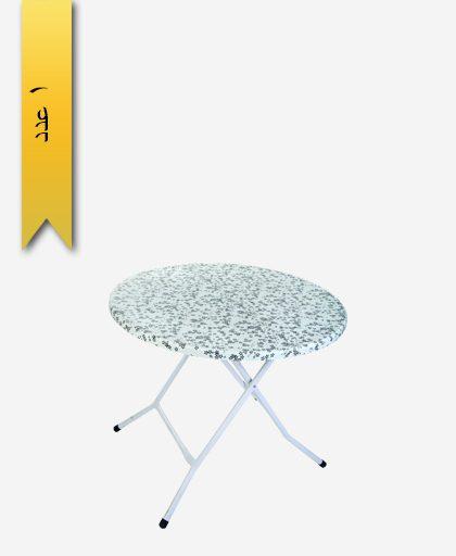 میز گرد تاشو 90×90 کد 1123 پایه فلزی - طلوع پلاستیک