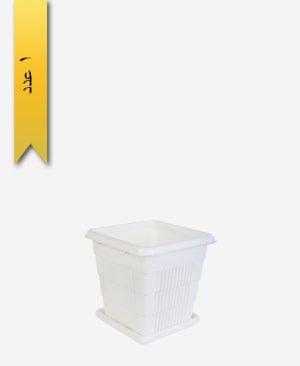 گلدان چهار گوش کد 2052 با زیره - طلوع پلاستیک