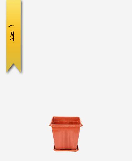 گلدان چهار گوش کد 2011 با زیره - طلوع پلاستیک