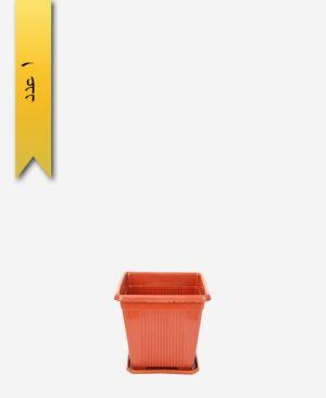 گلدان چهار گوش کد 2013 با زیره - طلوع پلاستیک