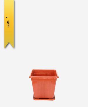 گلدان چهار گوش کد 2015 با زیره - طلوع پلاستیک