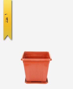 گلدان چهار گوش کد 2006 با زیره - طلوع پلاستیک