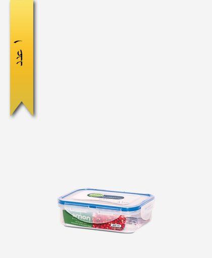 ظرف فریزری 400ml مستطیل کد 802 - لیمون