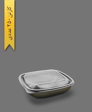 ظرف نگین چهار گوش - ظروف یکبار مصرف آذران ورق