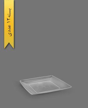 بشقاب غذاخوری لوکس شفاف - ظروف یکبار مصرف آذران ورق