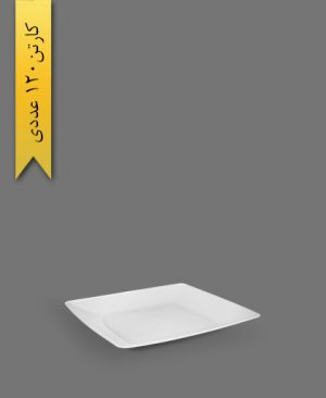بشقاب غذاخوری لوکس سفید - ظروف یکبار مصرف آذران ورق