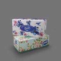 دستمال جعبهای 150 برگ دولا – تنو (جعبه 100 برگ)