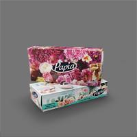 دستمال جعبهای 100 برگ دولا – پاپیا (جعبه 100 برگی)