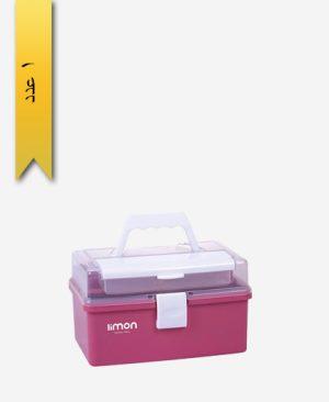 جعبه لوازم خیاطی ساده کد 1294 - لیمون