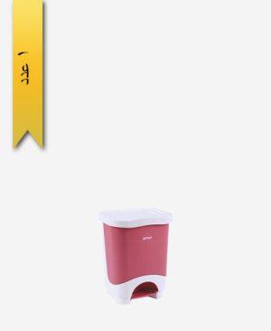 سطل پدالی چهار گوش کوچک کد 426 - لیمون