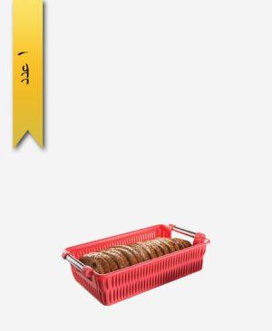 سبد طرح بامبو دسته استیل کد 1386 سایز 3 - لیمون