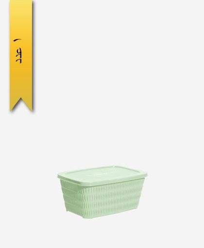سبد مستطیل درب دار کوچک کد 1692 - لیمون