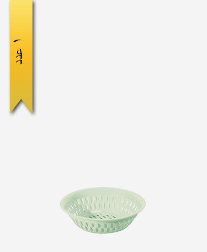 سبد گرد کوچک طرح بامبو کد 1154 - لیمون