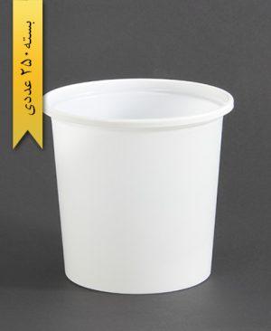 سطل ماستی بلند 2000cc - ps - 24gr - ظروف یکبار مصرف پیشگامان