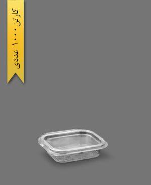 چهار گوش عسلی لولایی کوتاه - ظروف یکبار مصرف تاب فرم