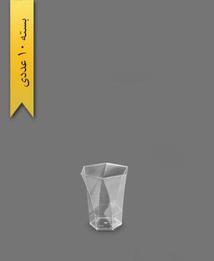 لیوان 6 ضلعی شفاف 135cc - ظروف یکبار مصرف یونسی پلاست