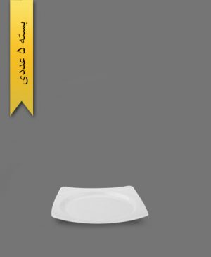 بشقاب لاکچری سفید - ظروف یکبار مصرف ام جی