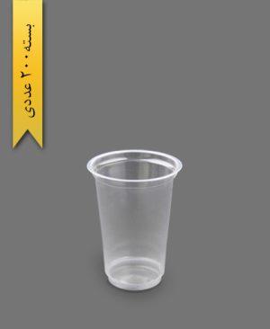 لیوان مکدونالد بلند 550cc شفاف - ظرف یکبار مصرف ام جی