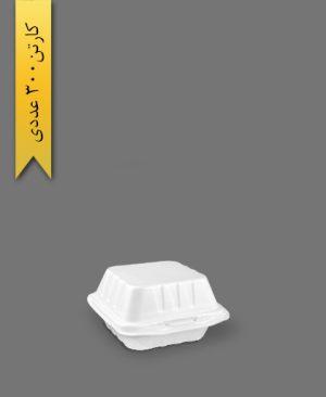 ظرف فوم همبرگری - ظروف یکبار مصرف ام جی