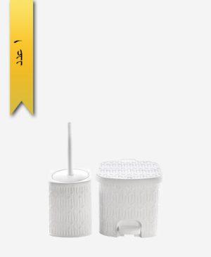سطل و فرچه متوسط طرح بامبو کد 1610 - لیمون