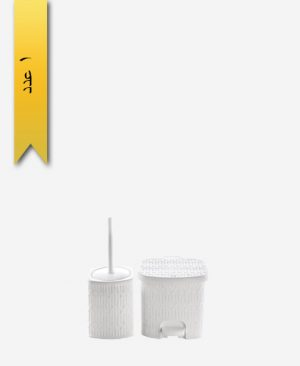سطل و فرچه کوچک طرح بامبو کد 1612 - لیمون