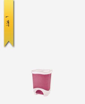 سطل پدالی چهارگوش کوچک طرح بامبو کد 1582 - لیمون