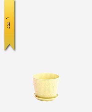 گلدان بامبو گرد سایز 4 کد 1638 - لیمون