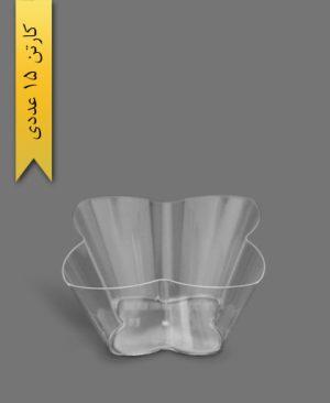 ظرف اسنک 5000ml کارن شفاف کد6 - ظروف یکبار مصرف کوشا