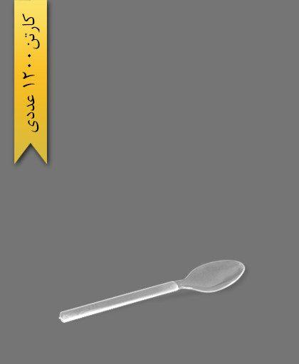 قاشق غذا خوری شفاف امپریال - ظروف یکبار مصرف کوشا