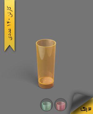 لیوان اسموتی 300cc بلک لایت رنگی - ظروف یکبار مصرف کوشا