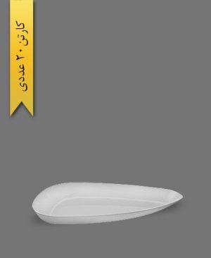 دیس سه گوش بزرگ لونا سفید - ظروف یکبار مصرف کوشا