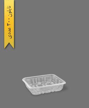 ظرف سالادی شفاف 18×14 - ظروف یکبار مصرف پارت نگین