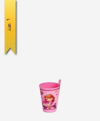 لیوان نی دار کودک کد 156404 - لیمون