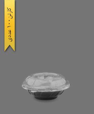 ظرف سالاد سزار خورشیدی با درب - ظروف یکبار مصرف صنایع پلاستیک خوزستان