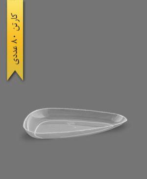 دیس سه گوش بزرگ لونا شفاف - ظروف یکبار مصرف کوشا