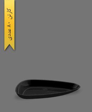 دیس سه گوش بزرگ لونا مشکی - ظروف یکبار مصرف کوشا