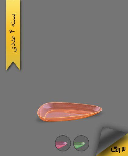 دیس سه گوش کوچک لونا بلک لایت - ظروف یکبار مصرف کوشا