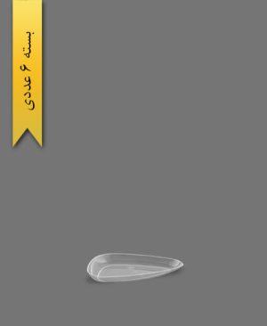 دیس سه گوش مینی لونا شفاف - ظروف یکبار مصرف کوشا